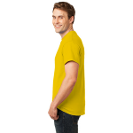 Lemon Yellow Port & Company Essential T-Shirt as seen from the sleeveleft