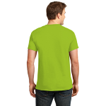 Lime Port & Company Essential T-Shirt as seen from the back