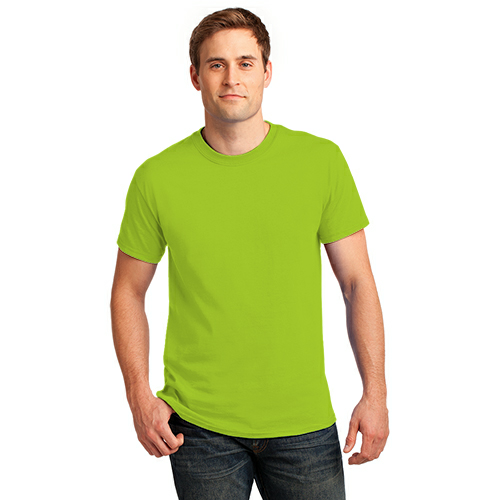 Lime Port & Company Essential T-Shirt as seen from the front