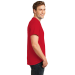 Red Port & Company Essential T-Shirt as seen from the sleeveright