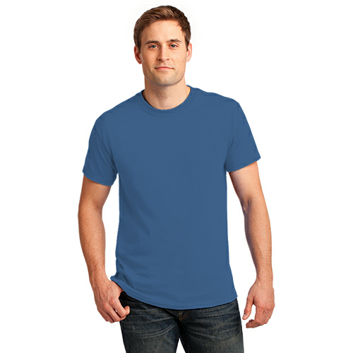 Sapphire Port & Company Essential T-Shirt as seen from the front