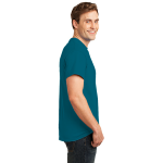 Teal Port & Company Essential T-Shirt as seen from the sleeveright