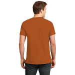 Texas Orange Port & Company Essential T-Shirt as seen from the back