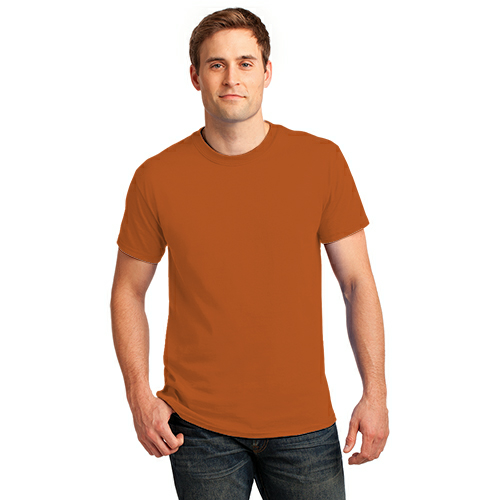 Texas Orange Port & Company Essential T-Shirt as seen from the front