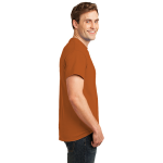 Texas Orange Port & Company Essential T-Shirt as seen from the sleeveright