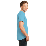 Turquoise Port & Company Essential T-Shirt as seen from the sleeveright