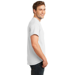 White Port & Company Essential T-Shirt as seen from the sleeveright