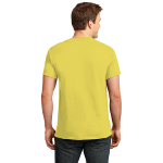 Yellow Port & Company Essential T-Shirt as seen from the back