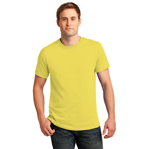 Yellow Port & Company Essential T-Shirt as seen from the front