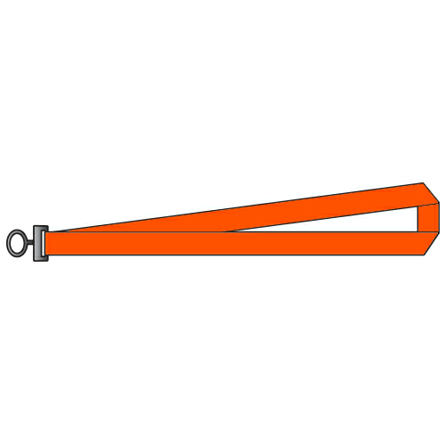Orange Polyester Lanyards 1