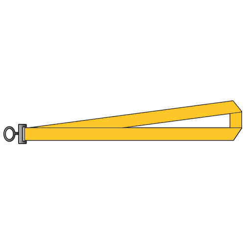 Yellow Polyester Lanyards 1