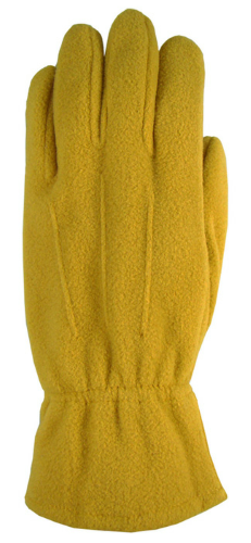 Gold Fleece Gloves as seen from the front