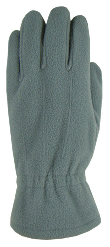 Gray Fleece Gloves as seen from the front
