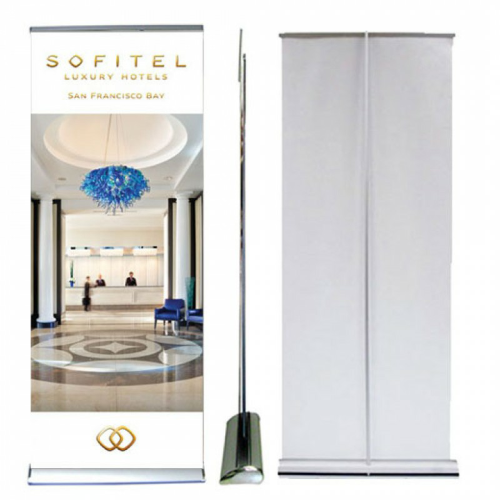 Retractable Banner with Deluxe Banner Stand