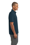 Regatta Blue Port Authority Ultra Stretch Pocket Polo as seen from the sleeveright