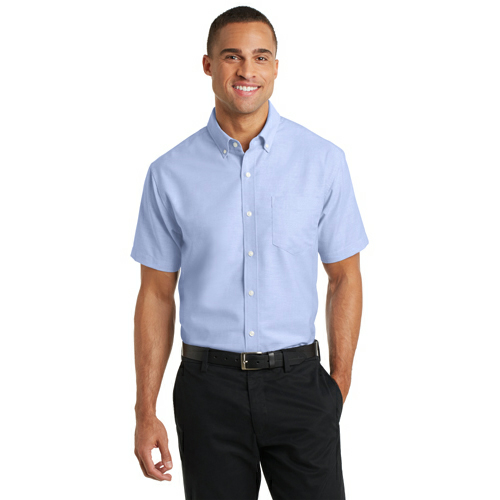 Port Authority Short Sleeve SuperPro Oxford Shirt - Embroidered