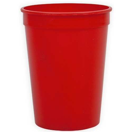 Red Cups-On-The-Go - 12 oz. Stadium Cup as seen from the front