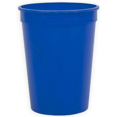 Royal Blue Cups-On-The-Go - 12 oz. Stadium Cup as seen from the front