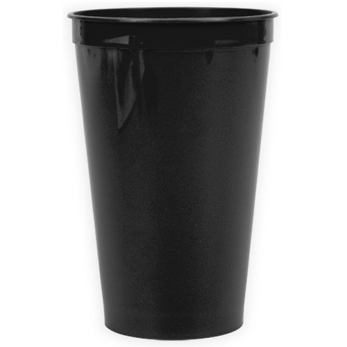 Black 22 oz. Stadium Cup as seen from the front