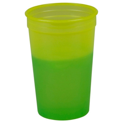 Yellow To Green Cups-On-The-Go 22 oz. Cool Color Changing Cup as seen from the front
