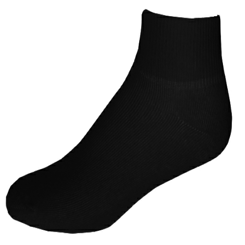 Black Unisex LogoSox as seen from the front