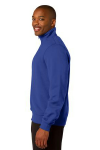 True Royal Sport-Tek 1/4-Zip Sweatshirt as seen from the sleeveleft