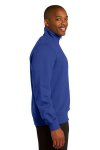 True Royal Sport-Tek 1/4-Zip Sweatshirt as seen from the sleeveright