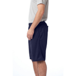 True Navy Sport-Tek PosiCharge Tough Mesh Pocket Short as seen from the sleeveright