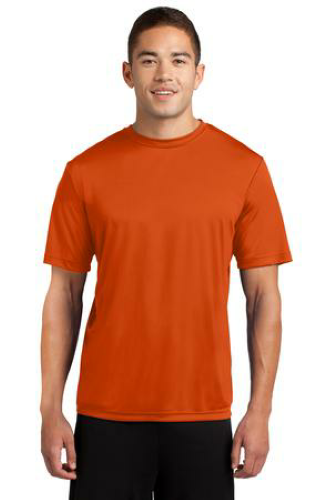 Deep Orange Sport-Tek Competitor Tee as seen from the front