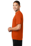 Deep Orange Sport-Tek Competitor Tee as seen from the sleeveleft