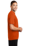Deep Orange Sport-Tek Competitor Tee as seen from the sleeveright