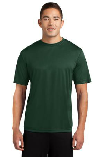 Forest Green Sport-Tek Competitor Tee as seen from the front