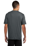 Iron Grey Sport-Tek Competitor Tee as seen from the back