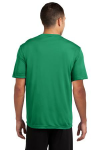 Kelly Green Sport-Tek Competitor Tee as seen from the back
