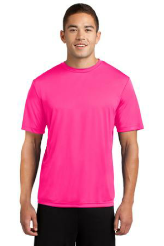 Neon Pink Sport-Tek Competitor Tee as seen from the front