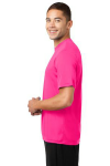 Neon Pink Sport-Tek Competitor Tee as seen from the sleeveleft