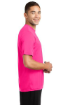 Neon Pink Sport-Tek Competitor Tee as seen from the sleeveright