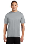 Silver Sport-Tek Competitor Tee as seen from the front