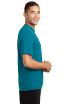 Tropic Blue Sport-Tek Competitor Tee as seen from the sleeveright