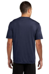 True Navy Sport-Tek Competitor Tee as seen from the back