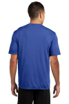 True Royal Sport-Tek Competitor Tee as seen from the back