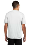 White Sport-Tek Competitor Tee as seen from the back