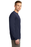 True Navy Sport-Tek Long Sleeve Competitor Tee as seen from the sleeveright