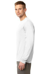 White Sport-Tek Long Sleeve Competitor Tee as seen from the sleeveleft
