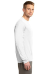 White Sport-Tek Long Sleeve Competitor Tee as seen from the sleeveright