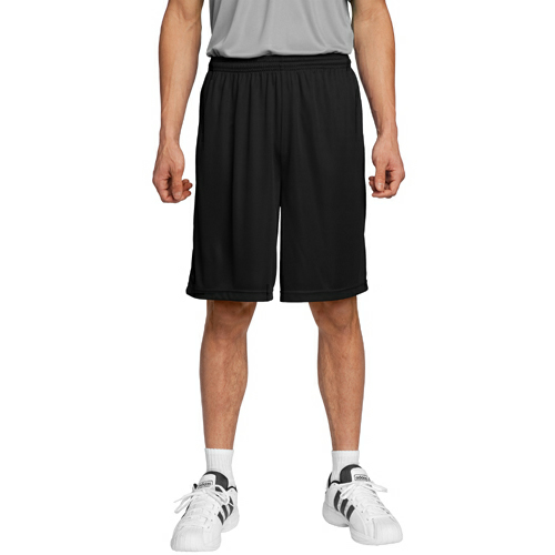Black Sport-Tek Competitor Short as seen from the front