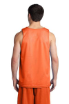 Deep Orange Wh Sport-Tek PosiCharge Classic Mesh Reversible Tank as seen from the back