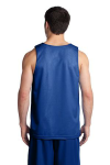 True Royal Wh Sport-Tek PosiCharge Classic Mesh Reversible Tank as seen from the back