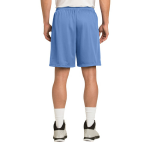 Carolina Blue Sport-Tek PosiCharge Classic Mesh ™ Short as seen from the back