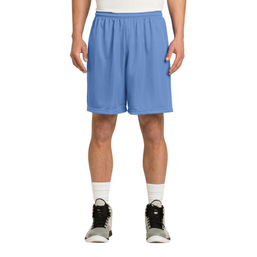 Carolina Blue Sport-Tek PosiCharge Classic Mesh ™ Short as seen from the front
